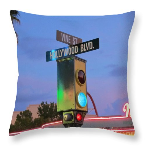 Hollywood And Vine Throw Pillow featuring the photograph Hollywood And Vine by Crystal Loppie