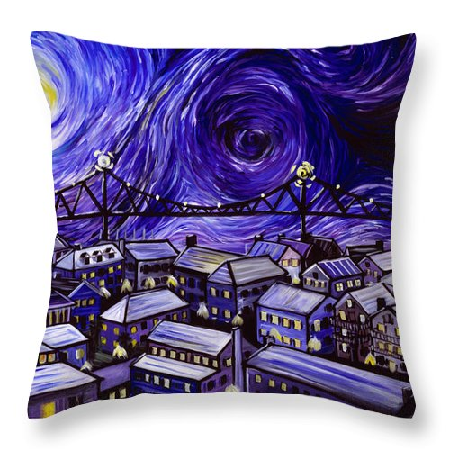 Nature Throw Pillow featuring the painting Holy City by James Christopher Hill