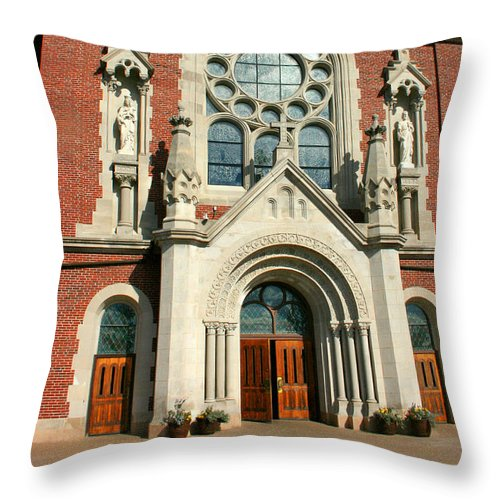 Holy Hill Throw Pillow featuring the photograph Holy Hill 2 by Susan McMenamin