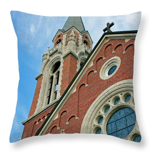 Holy Hill Throw Pillow featuring the photograph Holy Hill 3 by Susan McMenamin
