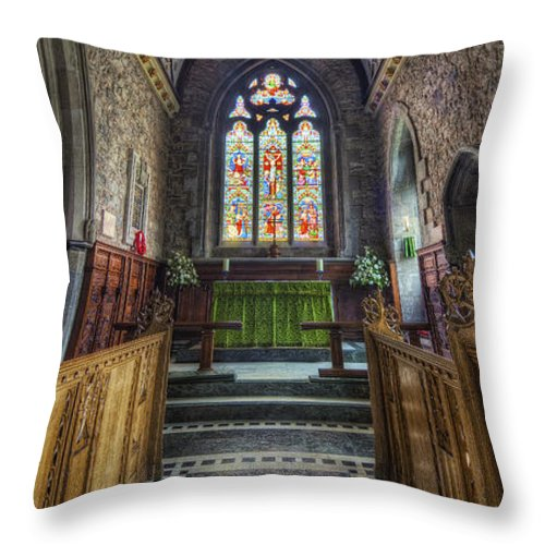 Church Throw Pillow featuring the photograph Holy Trinity Church Vertotama by Ian Mitchell