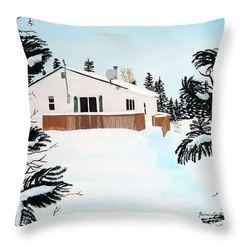 Home Throw Pillow featuring the painting Home Away From Home by Barbara Griffin