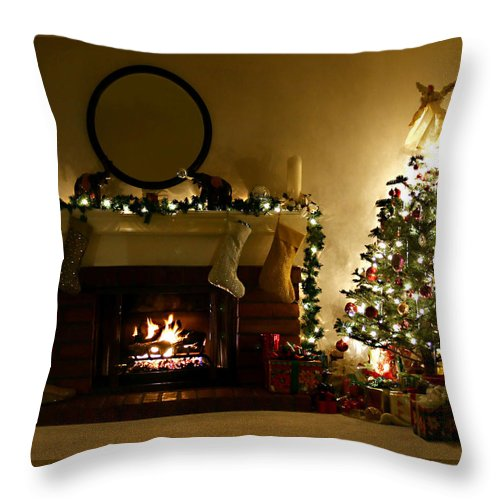 Home For The Holidays Throw Pillow featuring the photograph Home For The Holidays by Ellen Henneke