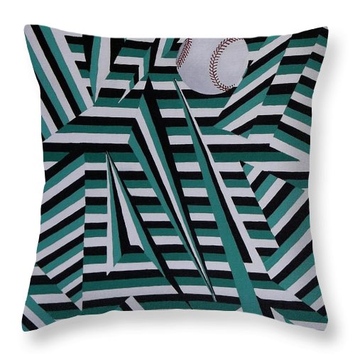 Home Run Throw Pillow featuring the painting Home Run by Anthony Morris