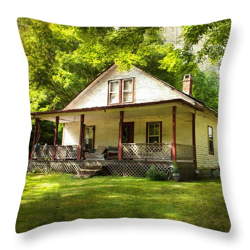 Home Throw Pillow featuring the photograph Home Sweet Home by Lena Auxier