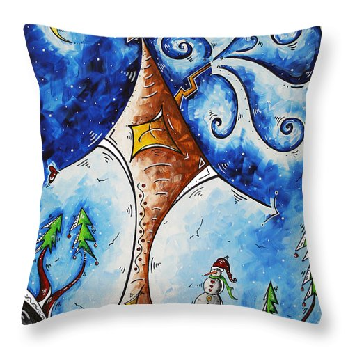 Wall Throw Pillow featuring the painting Home Sweet Home by Megan Duncanson