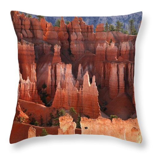 bryce Canyon Throw Pillow featuring the photograph Hoodoo Sunrise Bryce Canyon by Winston Rockwell