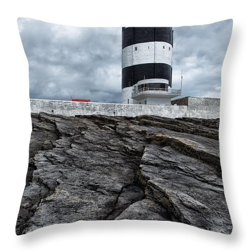 Hook Throw Pillow featuring the photograph Hook Head Lighthouse by Nigel R Bell
