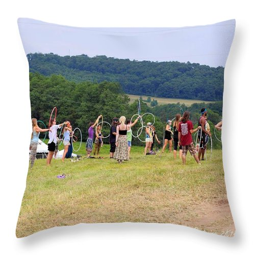 Hoop Camp Rw2k14 Throw Pillow featuring the photograph Hoop Camp Rw2k14 by PJQandFriends Photography