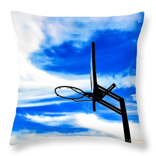 Basketball Throw Pillow featuring the photograph Hoop Dreamz by Angela J Wright