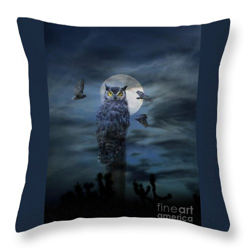 Owl Throw Pillow featuring the photograph Hoot Nanny by Stephanie Laird