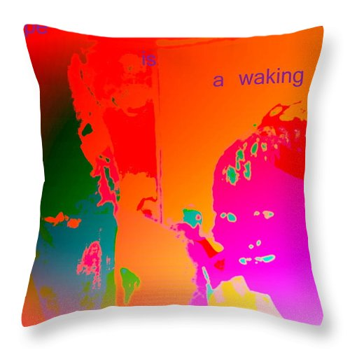 Tractor Throw Pillow featuring the photograph Hope Is A Waking Dream, Don't Wake Me Up by Hilde Widerberg