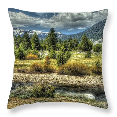 Landscape Throw Pillow featuring the photograph Hope Is Near by SC Heffner