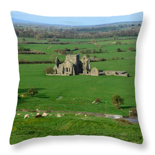 Ireland Throw Pillow featuring the photograph Hore Abbey In Ireland by DejaVu Designs