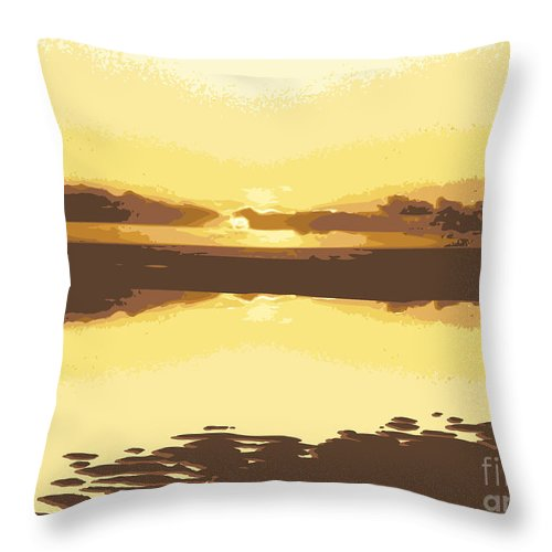 Fusionart Prints Throw Pillow featuring the digital art Horizon 2 by David Hargreaves