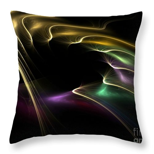 Digital Throw Pillow featuring the digital art Horse Of A Different Color by Greg Moores