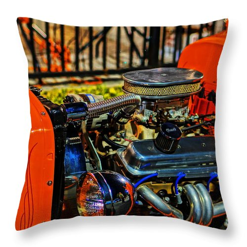 Throw Pillow featuring the photograph Horsepower 2 by Ronald Chacon