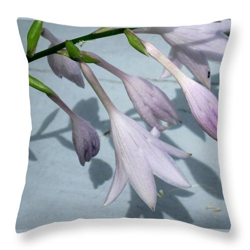 Nature Throw Pillow featuring the photograph Hostas by Charles Ford