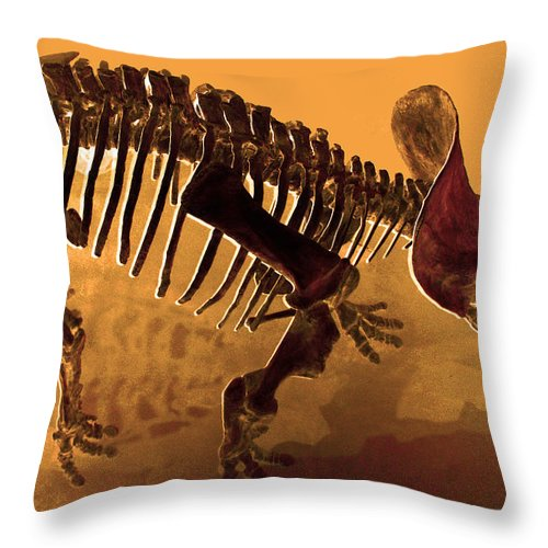 Hostile Fossil Throw Pillow featuring the photograph Hostile Fossil by JP McKim