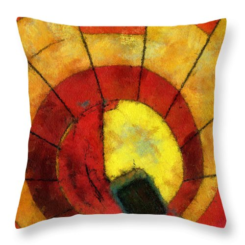 Adventure Throw Pillow featuring the photograph Hot Air Balloon Bottoms Up Photo Art by Thomas Woolworth