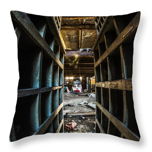 Hdr Throw Pillow featuring the photograph Hot Lips by Randy Scherkenbach