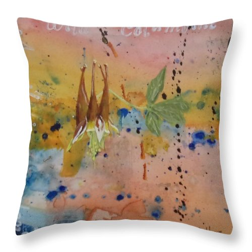 Series Throw Pillow featuring the painting Texas Wildflowers Tp Z by Michael Dillon