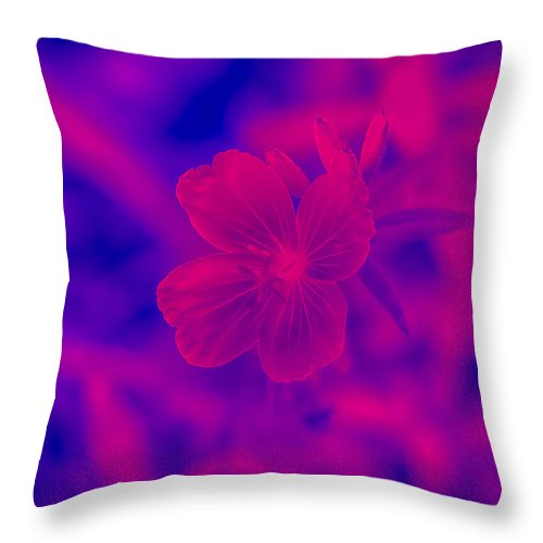 Environment Throw Pillow featuring the photograph Hot Pink by J Riley Johnson