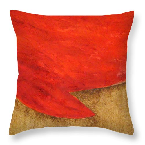 Modern Art Throw Pillow featuring the painting Hot Spot by Silvana Abel