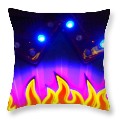 Out Of This World Throw Pillow featuring the photograph Hot Times On Earth With Ufo's by James Welch