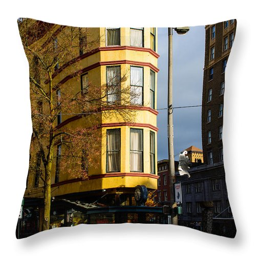 Hotel Bostwick Throw Pillow featuring the photograph Hotel Bostwick by Tikvah's Hope