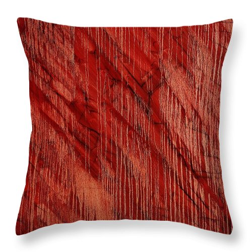 Abstract Throw Pillow featuring the painting Hotel California by Wayne Cantrell