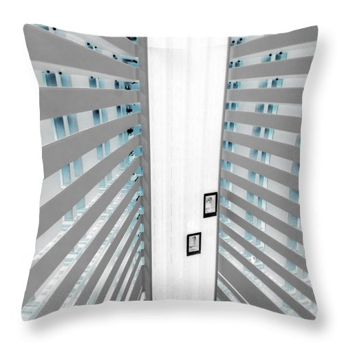 Hotel Throw Pillow featuring the photograph Hotel01 by Tony Grider