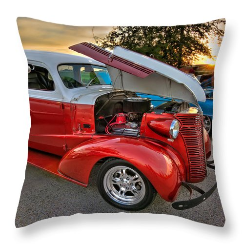 Tim Stanley Throw Pillow featuring the photograph Hotrod Sunset by Tim Stanley