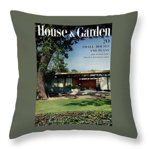 House & Garden Throw Pillow featuring the photograph House & Garden Cover Of The Kurt Appert House by Ernest Braun