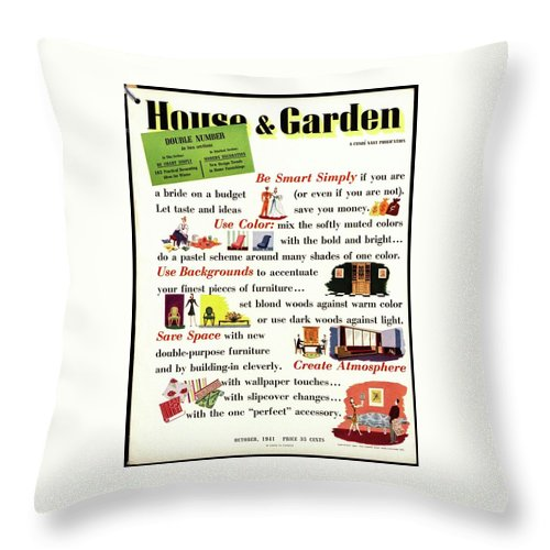 House And Garden Throw Pillow featuring the photograph House And Garden Cover by Paolo Garretto