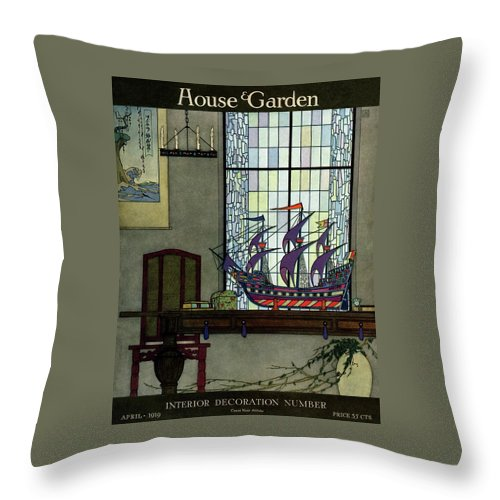 House And Garden Throw Pillow featuring the photograph House And Garden by Harry Richardson