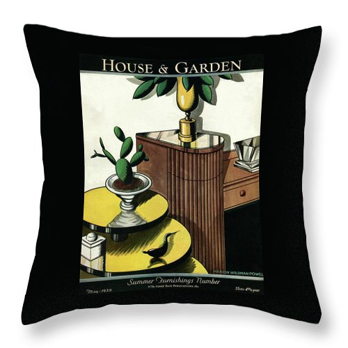 House And Garden Throw Pillow featuring the photograph House And Garden Household Equipment Number Cover by Marion Wildman