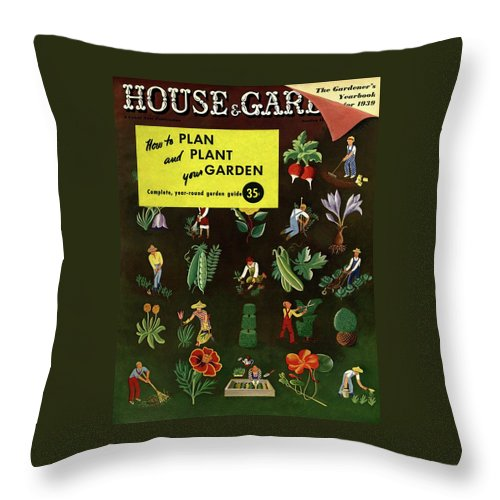 House And Garden Throw Pillow featuring the photograph House And Garden How To Plan And Plant by Ilonka Karasz