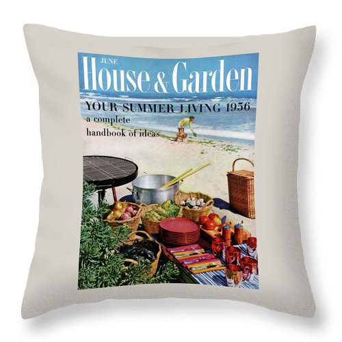 Entertainment Throw Pillow featuring the photograph House And Garden Ideas For Summer Issue Cover by Tom Leonard