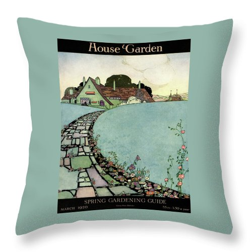 House And Garden Throw Pillow featuring the photograph House And Garden Spring Garden Guide by Harry Richardson