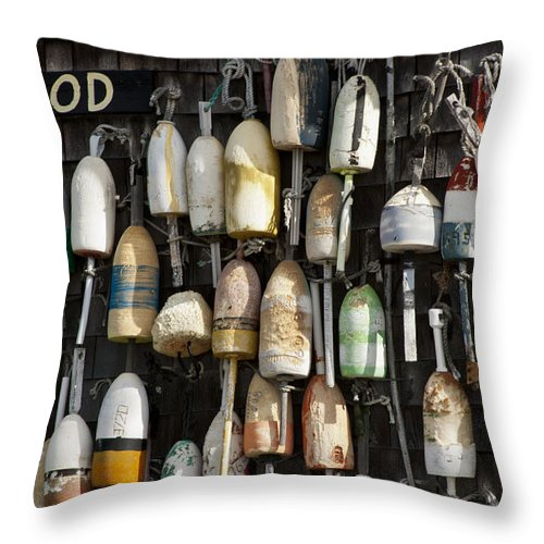 Bouys Throw Pillow featuring the photograph House Bouys by Dennis Coates