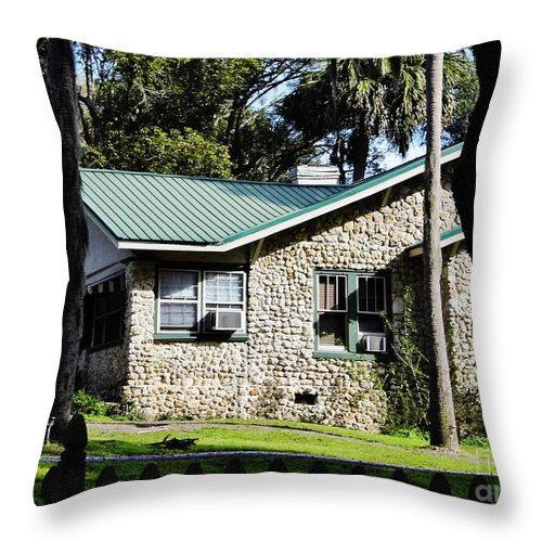 Chert Throw Pillow featuring the photograph House Made Of Limestone by D Hackett