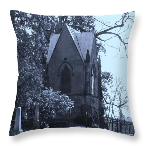 Cemetery Throw Pillow featuring the photograph House Of Corpses by Heather L Wright