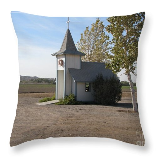 Patzer Throw Pillow featuring the photograph House Of The Lord by Greg Patzer
