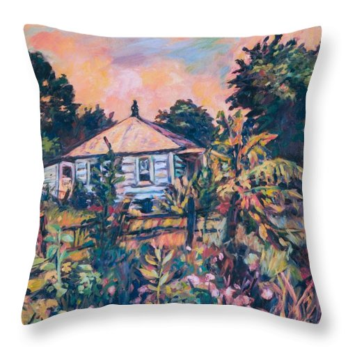 Kendall Kessler Throw Pillow featuring the painting House On Route 11 by Kendall Kessler