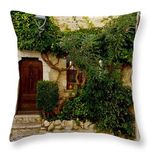 Saint Paul Throw Pillow featuring the photograph House Saint Paul De Vence France Dsc02353 by Greg Kluempers