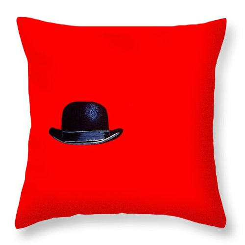 Modern Art Throw Pillow featuring the painting Huckleberry Red by Venus