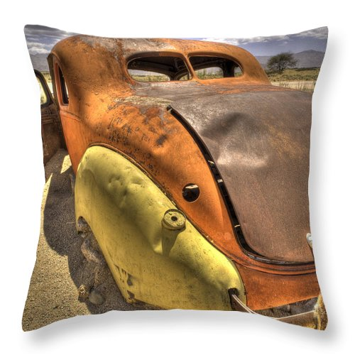 Namib Throw Pillow featuring the photograph Hudson by Fran Gallogly
