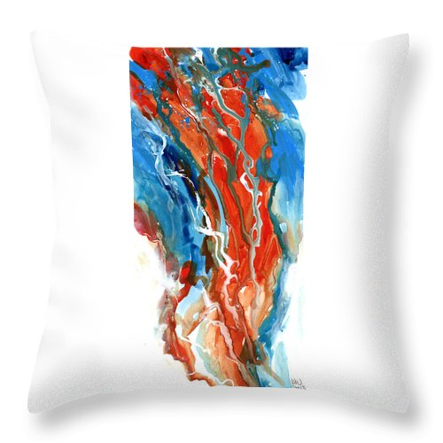 Abstract Throw Pillow featuring the painting Hue See Eye See by Ken Meyer jr