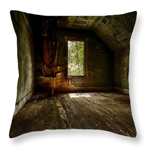 Architecture Throw Pillow featuring the photograph Hunted House In The Daylight by Jakub Sisak